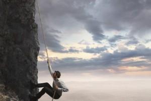 Risk rock climbing