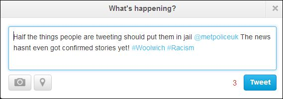 Woolwich bot tweet
