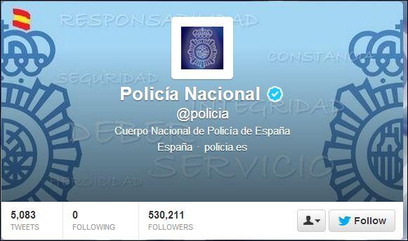 Policia Twitter header