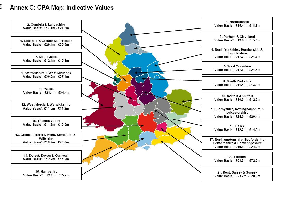 CPA Map and values