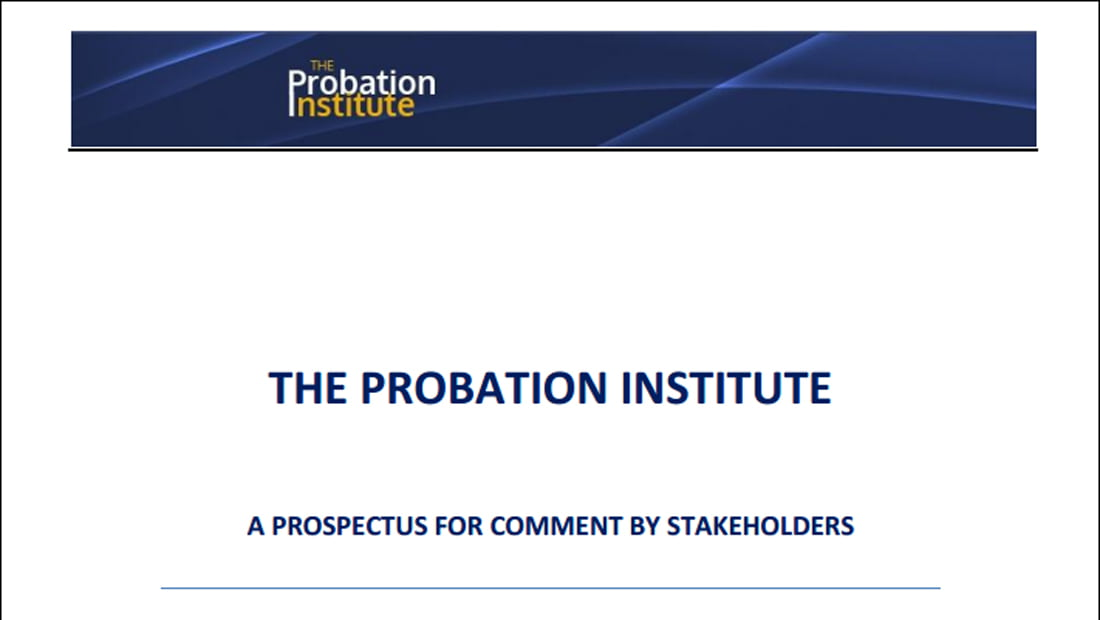 What do we know about the new Probation Institute?