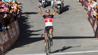 winning cyclist big