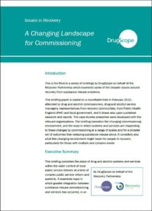 Drugscope commissioning landscape report cover
