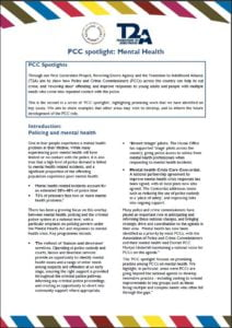 PCC mental health spotlight cover