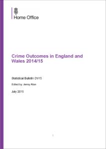 crime outcomes cover