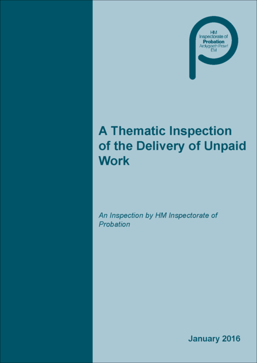 thematic inspection unpaid work probation