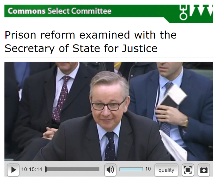 Gove 16 March 16 justice committee
