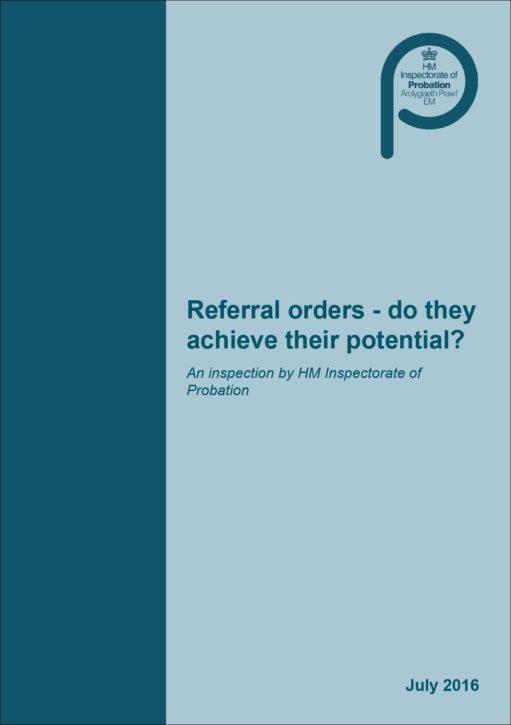 referral orders HMIP