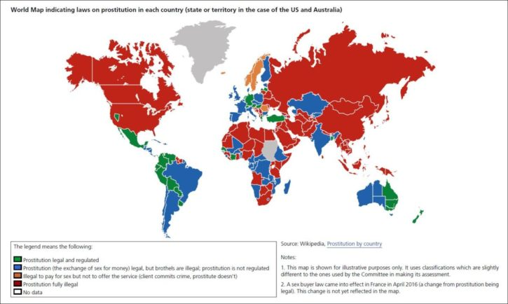 world prostitution map