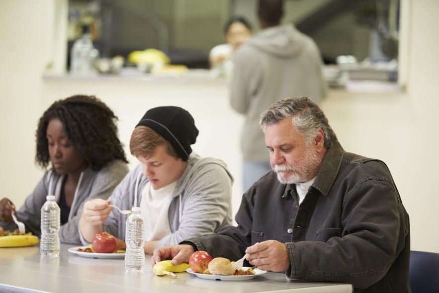 homeless people at day centre
