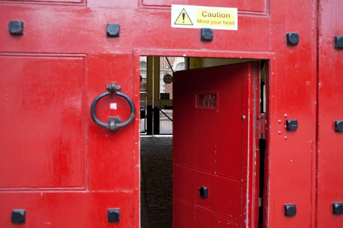 Prison gate HMP Aylesbury