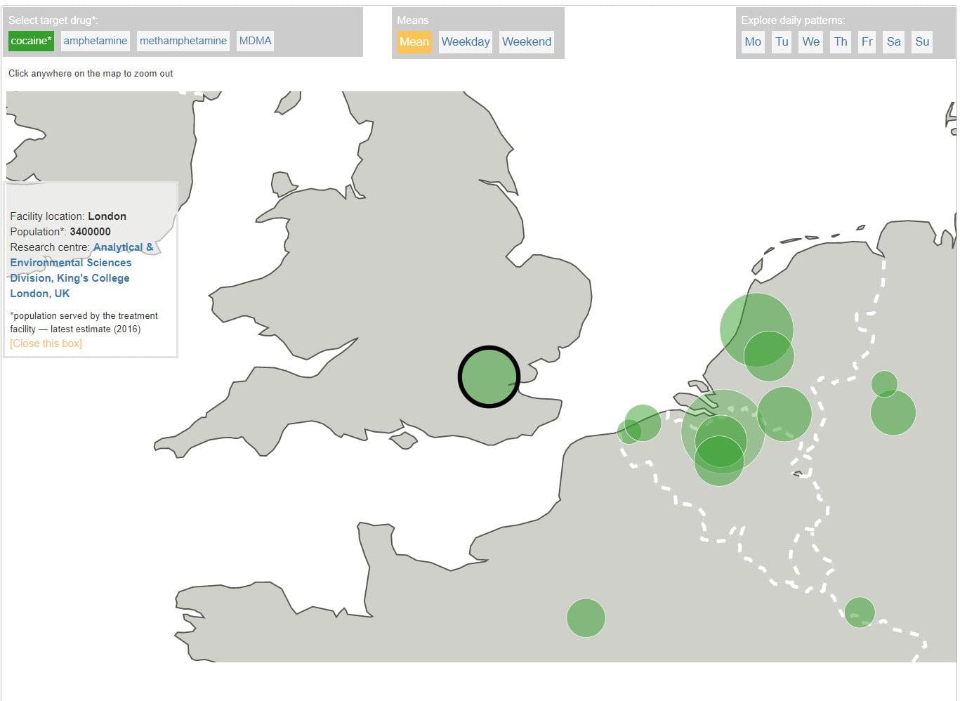 EMCDDA interactive wastewater chart