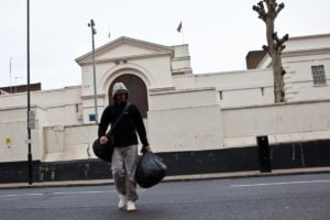 A person being released from Pentonville prison