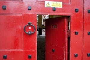 The main gates of YOI Aylesbury.