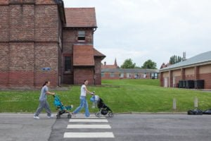 Prisoners pushing their babies at HMP Styal