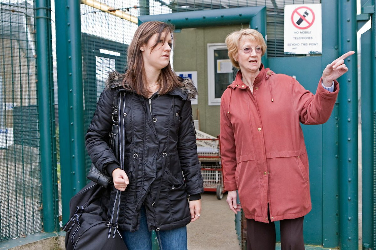 woman leaving prison