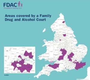 Family Drug and Alcohol Court Map