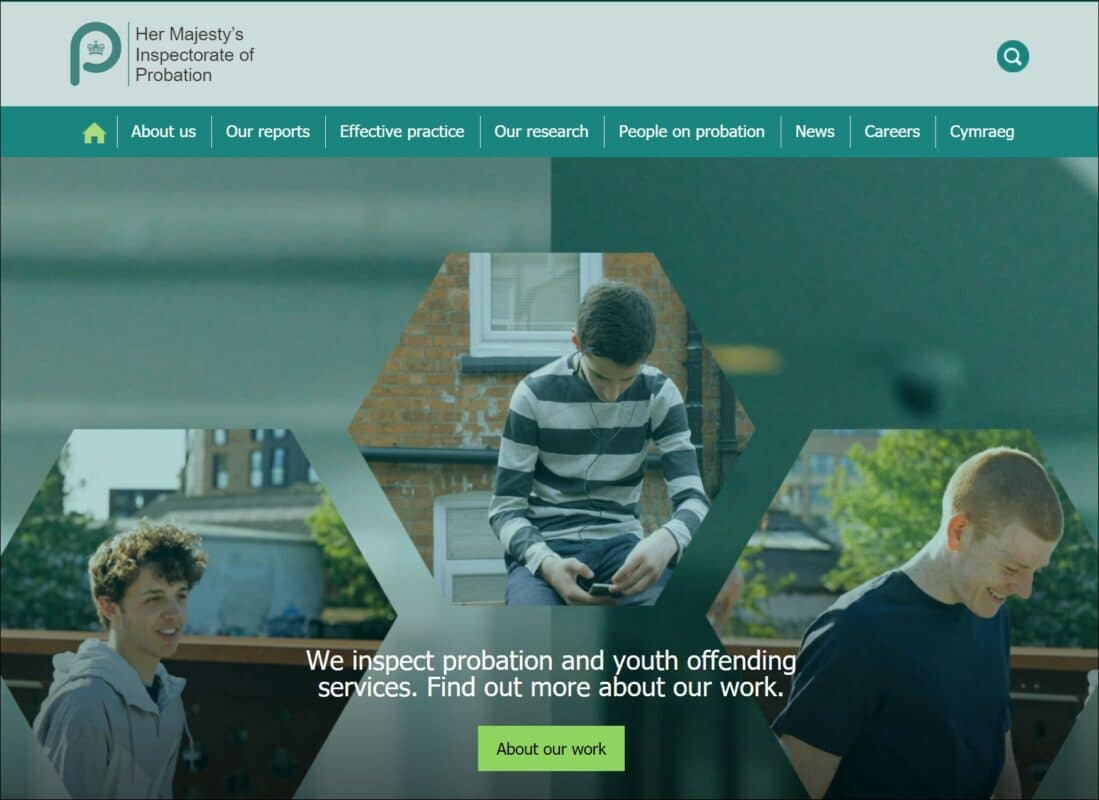HMI Probation homepage