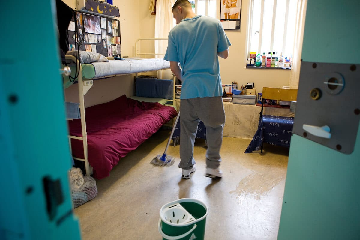Mopping a cell at Aylesbury
