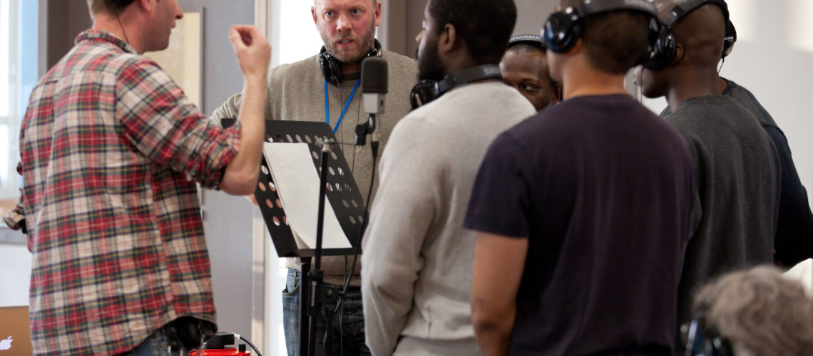 Finding Rhythms, a charity runs employability course at HMP and Youth Offenders Institute Isis in east London and a guest today was opera singer Adam Green. Picture by Ben Gurr/The Times/November 19th, 2014