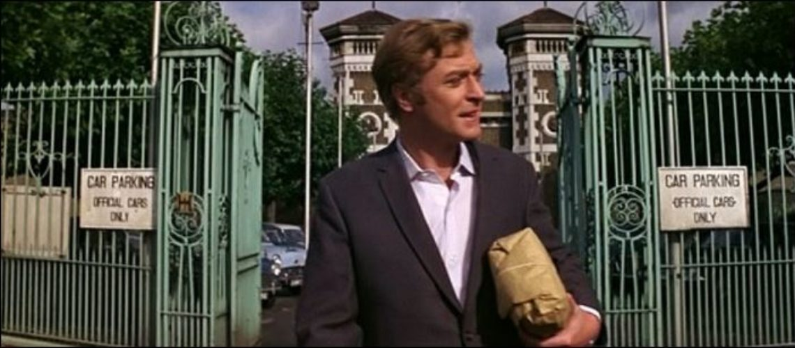 Michael Caine leaving prison Italian job