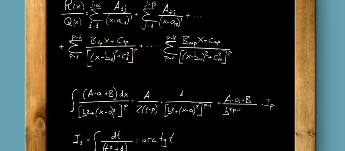 board black blackboard difficult mathematical integral formula math