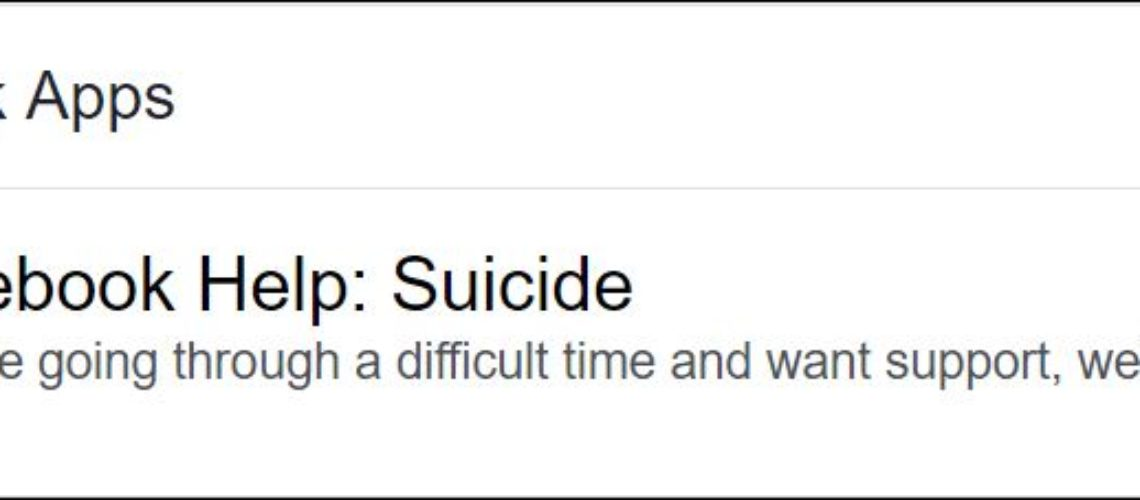 facebook suicide fi