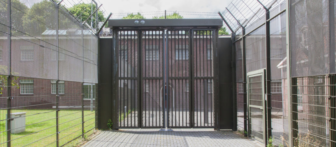 Large gate at an old dutch jail