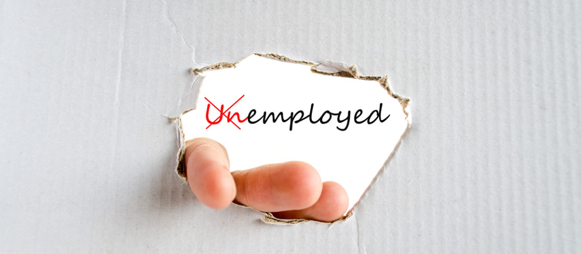 Unemployed Concept Isolated Over White Background