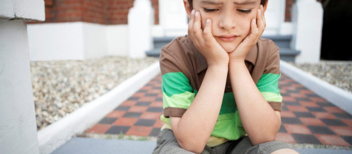 upset boy