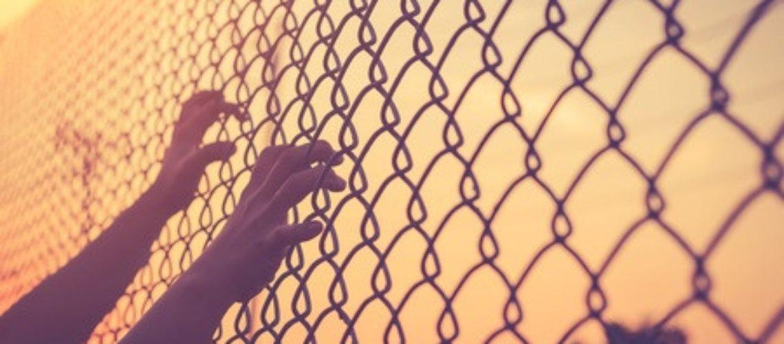 women prison fence